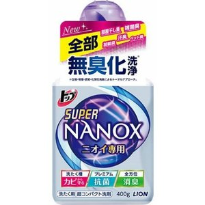 ライオン LION トップ スーパー ナノックス NANOX ニオイ専用  本体 400g 1個 atlife