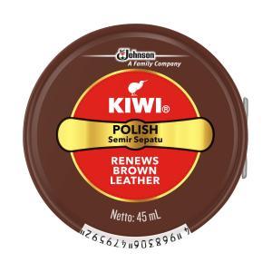 キィウイ(KIWI) 油性靴クリーム ブラウン 45ml(茶色 油性靴クリーム中缶)(4968306479592)|atlife