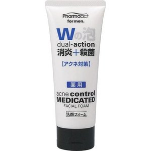 熊野油脂 ファーマアクト メンズ消炎+殺菌 薬用洗顔フォーム 130g(4513574011786)|atlife