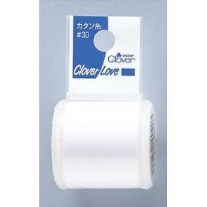 クロバー(Clover) 裁縫用 カタン糸 30 白 CL77720 atlife