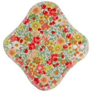 地の塩社 fuwako 幸せの布ナプキン ライナー ブロード 花赤 1個|atlife