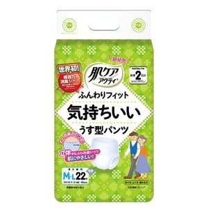 日本製紙クレシア 肌ケア アクティうす型パンツM−L22枚(大人用紙おむつ・介護用品・紙パンツ) atlife
