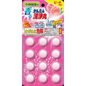 小林製薬 香るかんたん洗浄丸 ピーチの香り 12錠(4987072029022)|atlife