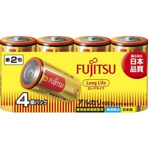 富士通(FUJITSU) LongLifeー単2・4個 LR14FL(4S)【259G】(4976680276409)|atlife