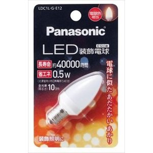 パナソニック(Panasonic) LED装飾電球 T形タイプ 電球色 LDT1LGE12(内容量: 1個)|atlife