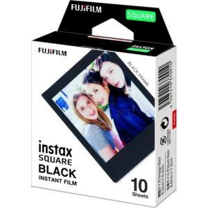 フジフイルム スクエアフィルム ブラックフレーム INSTAX SQUARE BLACK FRAME WW1 10枚入 1個|atlife