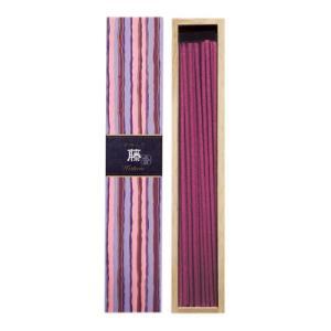 日本香堂 かゆらぎ 藤 40本入 香立付 燃焼時間:約25分 つややかで品のある藤のパウダリックフローラルな香り(4902125384026)|atlife