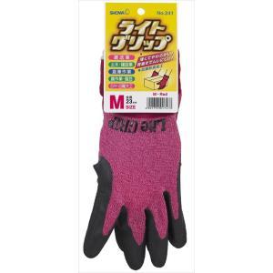 ショーワグローブ ライトグリップ M レッド (作業用手袋)|atlife