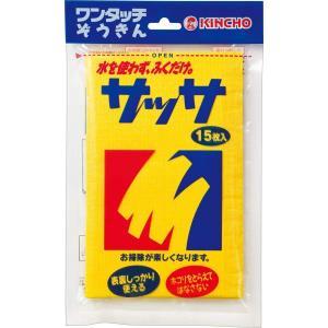 金鳥 サッサ 15枚 水を使わない化学雑巾(ぞうきん)(4987115800014) atlife