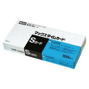 マックス タイムレコーダー用カード ER-S カード ブルー ER90060  100枚×1パック  1個|atlife