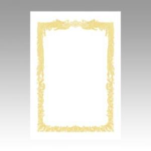 ササガワ OA賞状用紙 横書用 A4サイズ・10枚・白 10-1061 1個|atlife