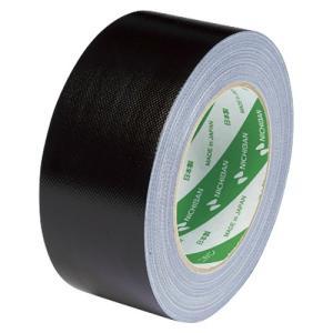 ニチバン 布粘着 カラーテープ 50mm×25m 黒 102N6-50 1個 atlife