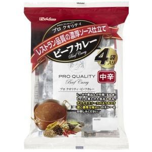 ハウス食品 プロクオリティ ビーフカレー中辛 4袋入 (4902402868324)|atlife