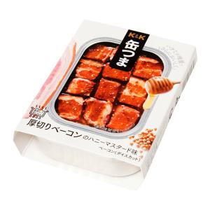 缶つま★レストラン K&K 厚切りベーコンのハニーマスタード味 缶詰 (4901592895356)|atlife