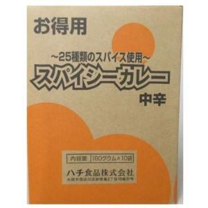 ハチ食品 スパイシーカレー お得用 中辛 180g×10袋 (4902688242542)|atlife