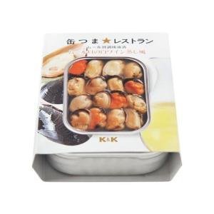 缶つま★レストラン K&K ムール貝の白ワイン蒸し風 缶詰 (4901592896636)|atlife