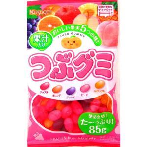 春日井製菓 つぶグミ 85g×6個セット (お菓子・食品・グミ)保存に便利なチャックが付き!