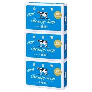 牛乳石鹸 カウブランド 青箱 バスサイズ 135g ×3コ入 (4901525125338) ×10点セット 【まとめ買い特価!】|atlife