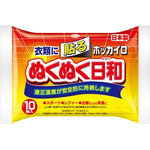 興和 ホッカイロ ぬくぬく日和 貼る レギュラー 10個 (4987067829606)×10点セッ...