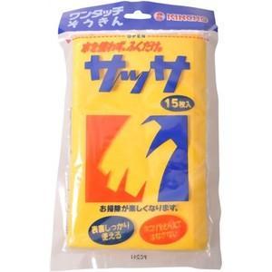 金鳥 サッサ 2個パック(15枚×2セット:計30枚入り) 水を使わない化学雑巾(ぞうきん)(4987115800083)【×10点セット】 atlife