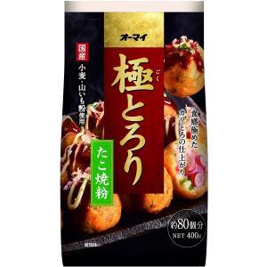 日本製粉 オーマイ 極とろり たこ焼粉 400g×10個セット 【まとめ買い特価!】|atlife