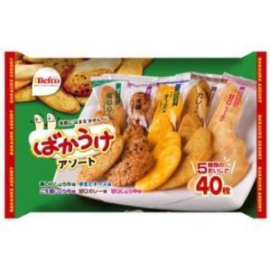 栗山米菓 ばかうけアソート 40枚×10個セット (個包装タイプ お菓子・食品)|atlife