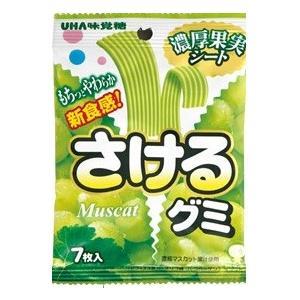 UHA味覚糖 さけるグミ マスカット 7枚×80個セット (食品・お菓子・グミ)|atlife