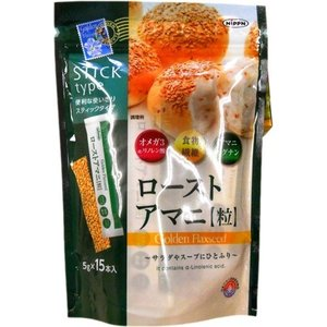 【送料無料・まとめ買い×6個セット】日本製粉 ニップン ローストアマニ 粒 5g×15本入 1個|atlife