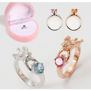 誕生石 & 名前 メッセージ 刻印 ベビーリング 指輪 SV925 出産記念 出産祝い 5960|atmack