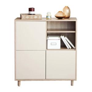 折りたたみ式 棚付 リビングテーブル 大 W110 座卓 机 ローテーブル|atmack