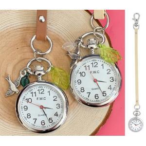 バッグチャーム 時計 キーホルダー ナースウォッチ おしゃれ ピンク うさぎ ネコ インコ|atmack
