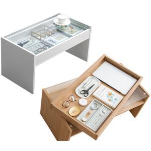 コレクションテーブル 収納付き 机 ローデスク コレクションケース|atmack