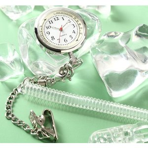 (NM) 2way ナースウォッチ チェーン付 ポケット時計 医療 看護 イエロー ピンク