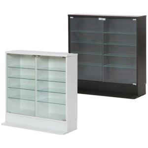 コレクションラック 大型 棚 コレクションキャビネット 黒 白 収納|atmack