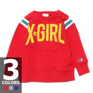 エックスガール X-GIRL ステージス チャンピオン クルーネックスウェット(3色展開)キッズ|atmos-tokyo