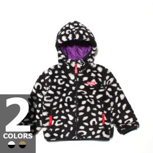 エックスガール X-GIRL ステージス レオパード フラッフィー リバーシブル ジャケット(2色展開)キッズ|atmos-tokyo