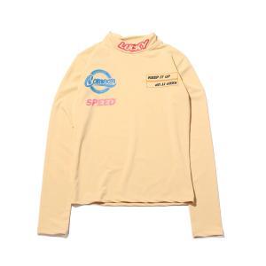アトモスピンク atmos pink 長袖Tシャツ タートル タイト トップス (BEIGE) 19FA-I|atmos-tokyo