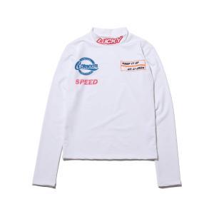 アトモスピンク atmos pink 長袖Tシャツ タートル タイト トップス (WHITE) 19FA-I|atmos-tokyo