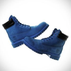 ティンバーランド × アトモス Timberland  6インチ ダブル カラー ブーツ (BLUE NUBUCK) 16FW-S|atmos-tokyo