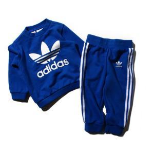 アディダス オリジナルス adidas インファント トレフォイル クルー (Blue) 18SS-I|atmos-tokyo