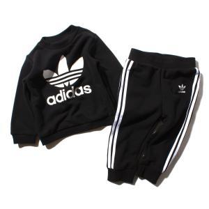 アディダス オリジナルス adidas インファント トレフォイル クルー (Black) 18SS-I|atmos-tokyo
