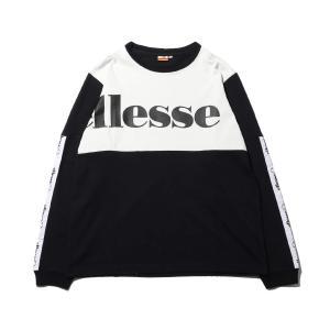 エレッセ ellesse 長袖Tシャツ ミックス ロゴ ロングスリーブ ティー (SNOW WHITE/BLACK) 19FW-I|atmos-tokyo