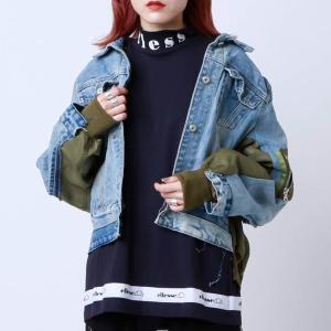エレッセ ellesse 半袖Tシャツ ハイネック ティー (NAVY) 19FW-I|atmos-tokyo