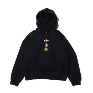 アディダス adidas パーカー エルアールジー ロゴ フーディー (BLACK/GOLD METRIC) 20SS-I|atmos-tokyo