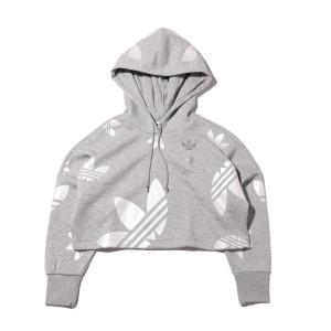 アディダス adidas パーカー エルアールジー ロゴ クロップ フーディー (MEDIUM GRAY FEATHER/WHITE) 20SS-I|atmos-tokyo