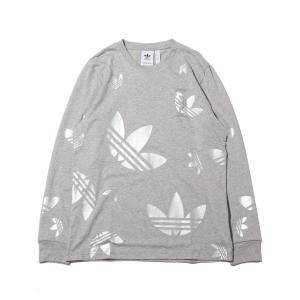 アディダス adidas 長袖Tシャツ ロングスリーブ Tシャツ (MEDIUM GRAY FEATHER/SILVER METRIC) 20SS-S|atmos-tokyo