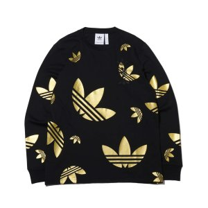 アディダス adidas 長袖Tシャツ ロングスリーブ Tシャツ (BLACK/PLATINUM METRIC) 20SS-S|atmos-tokyo