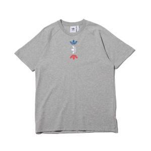 アディダス adidas 半袖Tシャツ Tシャツ (MEDIUM GRAY FEATHER/LUSH BLUE) 20SS-S|atmos-tokyo