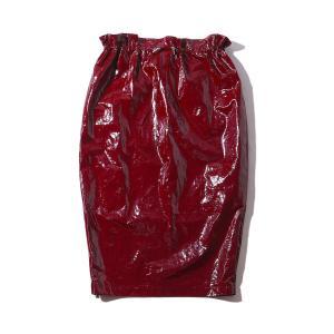 アトモスピンク atmos pink スカート PVC ウエストシボリ タイト スカート (RED) 18FW-I|atmos-tokyo