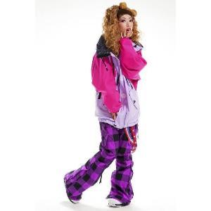 芸能人が選ぶ高級スノボウェアスノーボードウェア レディース メンズ 兼用 上下セット atmys look lavender×purple (30w-b011a)|atmys